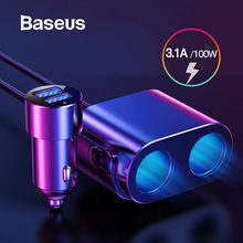 Baseus 80W Car Charger Cigarette Lighter Socket Power Adaper
