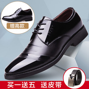 Men's business suit black leather shoes new men's shoes in the United States in the spring