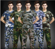 Youth army camouflage fatigues military training camp expand woodland camouflage suit adult