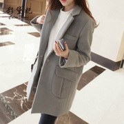 Autumn and winter season selling 2017 Korean women's wool coat thickened in the long slim size female woolen coat