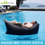 LoveLife portable inflatable sofa bed, outdoor lazy sofa pocket, air single sleeping bag, lunch bed