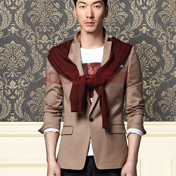 Special six! 2! 17 autumn new 94% Wool Fashion Korean style slim men's small suit, suit coat