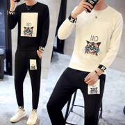 A men's long-sleeved pants casual suit trend of the Korean version boys fall 27 new handsome