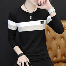 Men's winter autumn clothing with long sleeved T-shirt male cashmere sweater coat thick warm clothes youth tide shirt