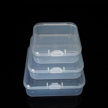 Hook Box Square Plastic Transparent Box Mobile Phone Card U Disk Small Parts Storage Box Product Packaging Jewelry Box