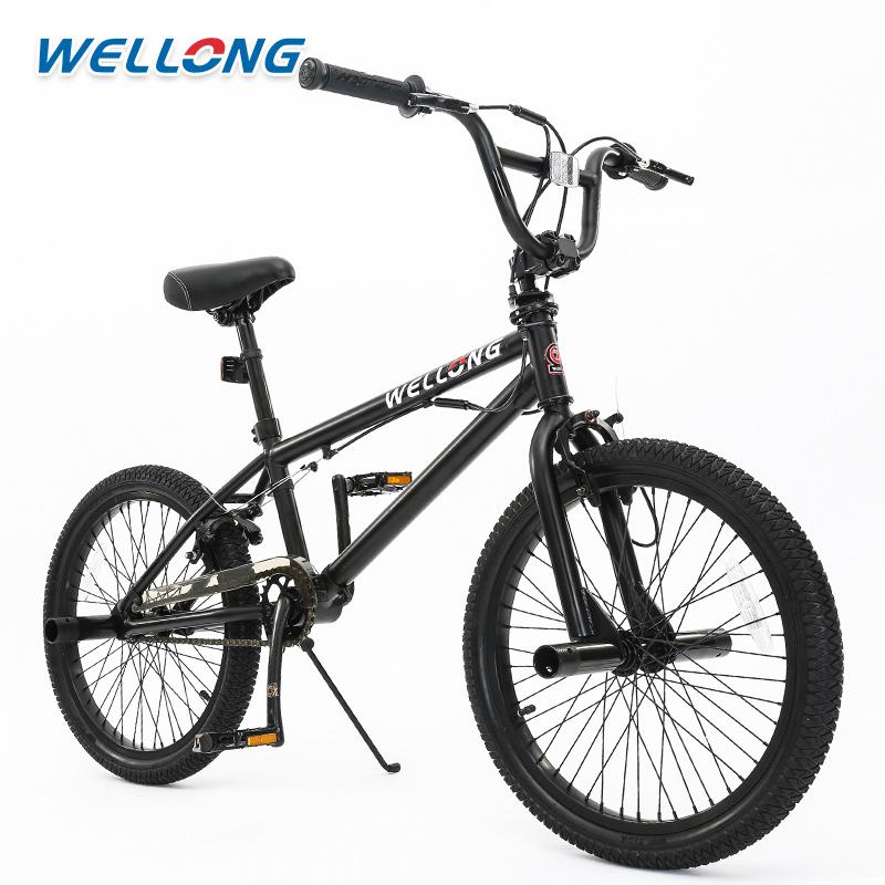 万轮BMX小轮车BMX特技车极限花式街车20寸黑色表演车自行车
