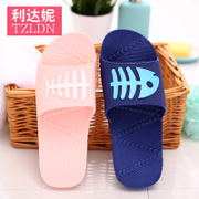 Summer bath slippers home women indoor home non-slip thick platform couple bathing home soft slippers sandals summer