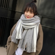 Scarf winter long thick Korean version of the trendy sweater girls male students soft sister simple scarf