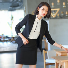 Small suit womens jacket spring and summer professional suit jacket short-sleeved interview dress black Korean Slim overalls