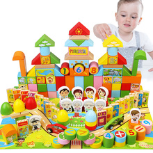 Childrens building blocks 3-6 years old puzzle boy 1-2 years old baby girl baby assembled 7-8-10 years old wooden toys