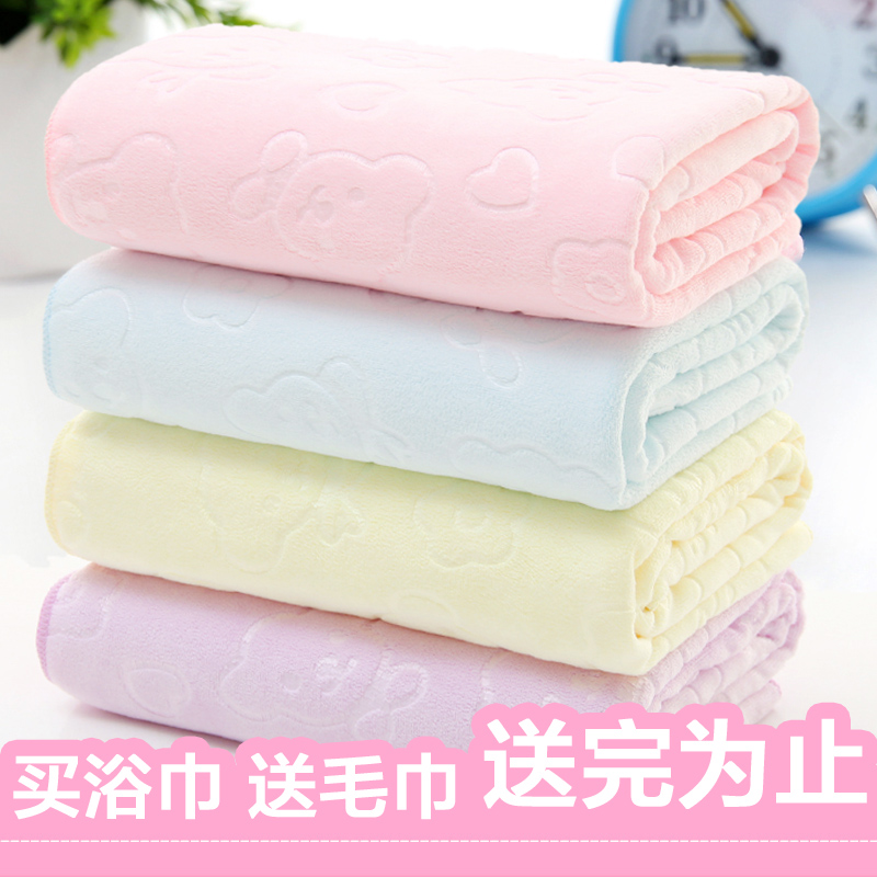 Children bath towel than pure cotton super soft water absorption newborn baby, summer square cartoon baby baby bath special