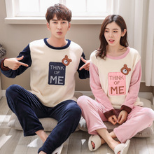 couple pyjamas set winter women men pajamas homewear pijamas