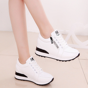 2017 new female white shoe spring increased thick soled shoes. All-match sports shoes shoes female students