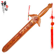 Zen house Feicheng opening Guajian Wangcai Taomu Jian Kaiyun wood carving crafts goodfortune increase margin