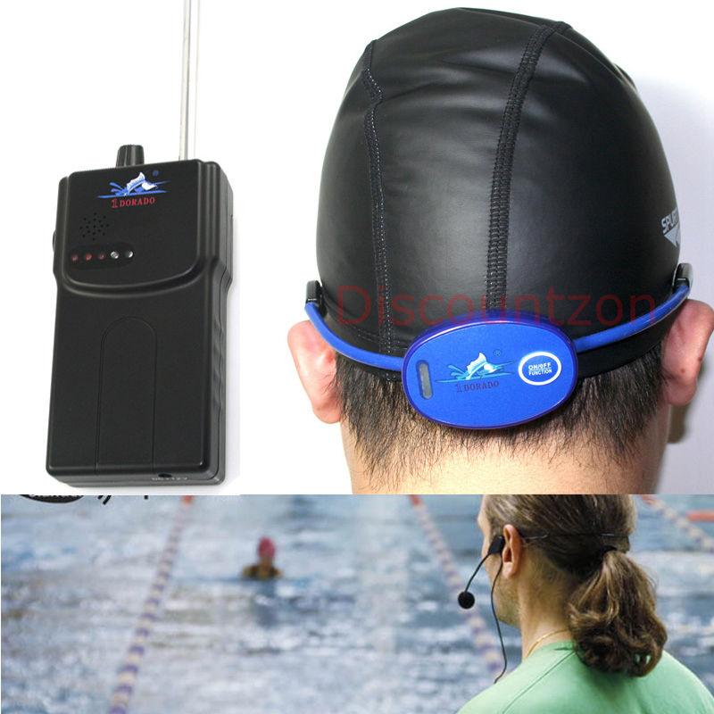 潜水芭蕾花式游泳浮潜水下教学机教练学员对讲机骨传导接收机耳机