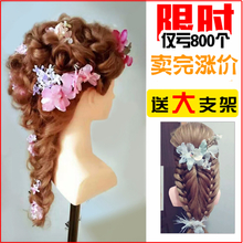 Full real head mold with shoulder dummy head doll head wig can be hot plate braid hair model head hairdressing practice modeling