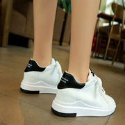 In the spring of 2017 white shoes increased thick soled shoes with white lace s casual shoes single student movement