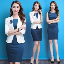 d0aee0ee165 2018 new fashion temperament professional suit female dress suit suit summer  tooling beautician overalls female