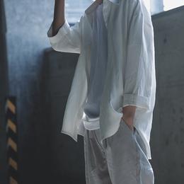 衣疫 黑/白2色自制款走路带风的七分袖白衬衫黑衬衫