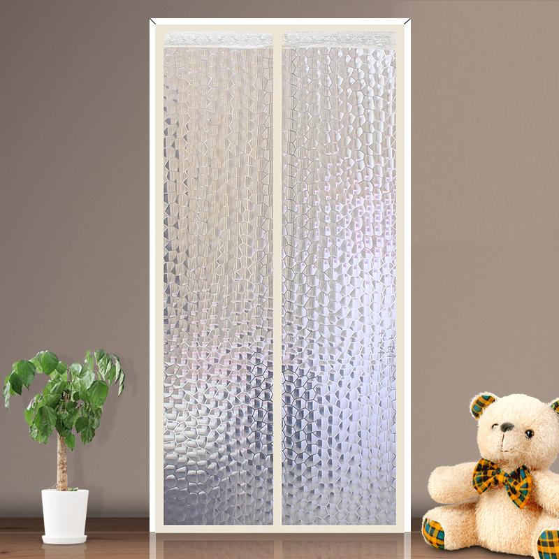 空调门帘冬季保暖防风厨房防油烟加厚家用保温挡风隔断塑料半透明