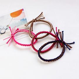 麻发头绳韩国发饰 手工编织橡皮筋扎头发打结发圈发绳 头饰小饰品