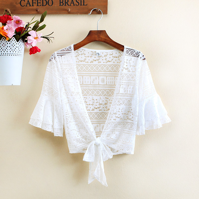 Special offer every day summer jacket all-match Lace Shawl small waistcoat short sunscreen clothing cardigan a woman
