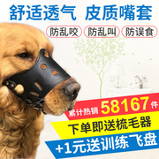 The dog's mouth set of dog bite prevention masks call of large and small dogs bark stopper anti luanchi pet golden retriever dog dog set cover