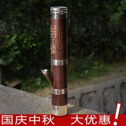 云南精品水烟筒40CM高水烟壶卷烟水烟袋仿木不锈钢包边小号水烟斗