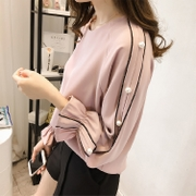 Special offer every day in spring and autumn new 2017 Chiffon Korean large long sleeved shirt jacket code nail bead base