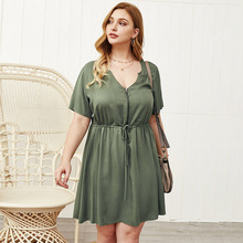 Fat women summer dresses plus size lady loose dress