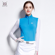 BG the new spring and summer golf apparel silk long sleeved tights sunscreen POLO shirt female golf shirt