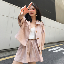 ◆ ASM ◆ 2018 summer new seven-point sleeve light sunscreen small suit jacket thin shorts suit women