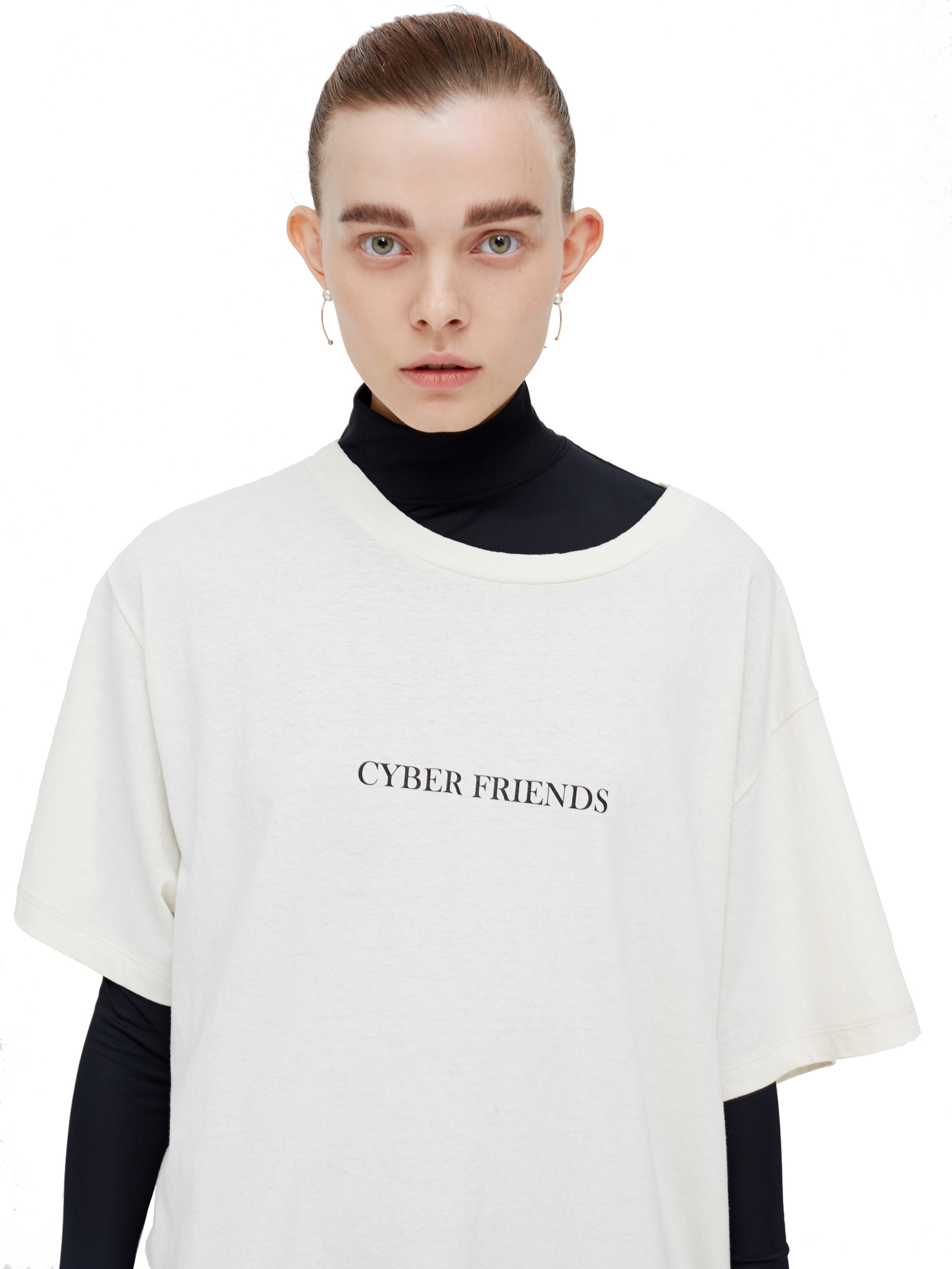 Quasi英国代购 WE11DONE GD CYBER FRIENDS LOGO TEE T恤