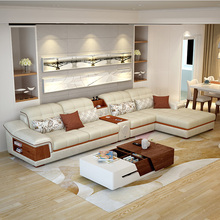 fabric sofa combination modern simple winter and summer dual-use small technology cloth disposable intelligent living room furniture