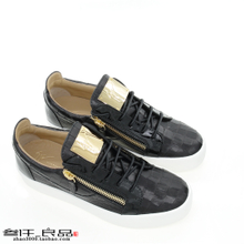 Overseas Straight Hair Genuine GIUSEPPE ZANOTTI GZ Mens Leather Crocodile Pattern Low-Top Casual Shoes