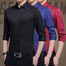2017 new thin shirt shirt sleeved TB slim handsome man all-match Korean business casual shirt