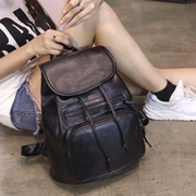 Ladies backpack female bag leather fashion 2016 new leather backpack bag, South Korea tide wind