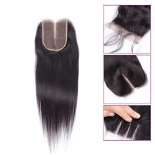 Virgin human hair lace closure straight 4 * 4