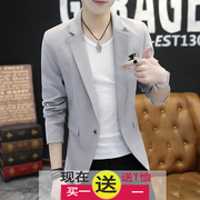 2017, the new spring men's thin coat, Korean version of self-cultivation small suit, young men casual fashion trends, suits