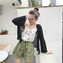 Women wear sunscreen shirt sleeve nine thin coat ulzzang new summer sunshade cardigan shirt draped female air conditioning