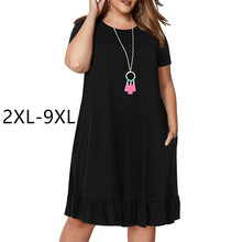Plus size summer dresses women 2xl-9xl big ladies skirt