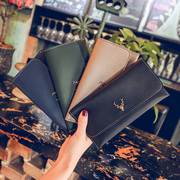 2017 new women's Long Wallet retro minimalist fashion multi Card Wallet Korean Student Wallet