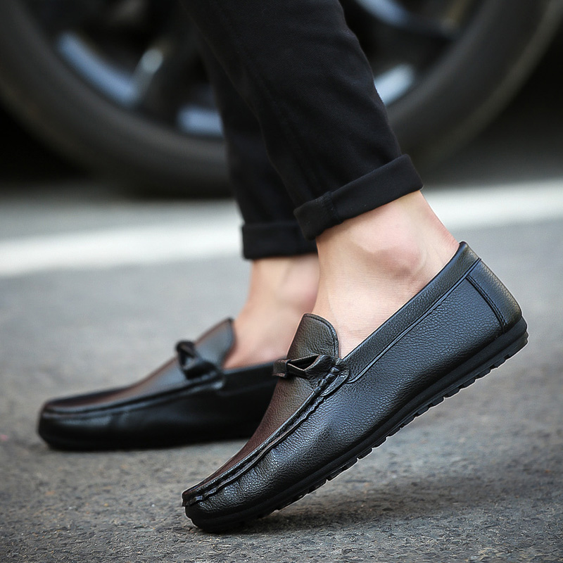 Spring and summer air Doug Shoes Mens pedal slip-on trend set foot shoes casual shoes men's shoes.