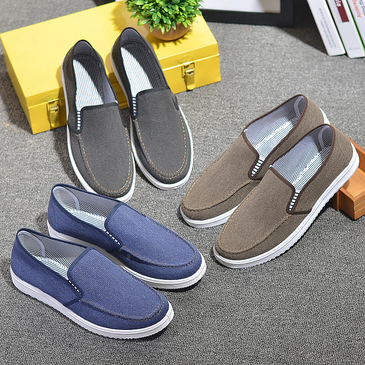 Summer old Beijing shoes Korean men's footwear shoes canvas shoes lazy pedal low shoes