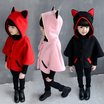 Children wear fall winter girls wear suits 2016 new 241-3 4 plus baby cashmere 5 thick Korean two-piece boom