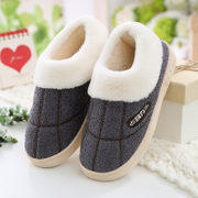 Home slippers winter home men and women back anti-slip lovers cotton slippers indoor warm thick base with cotton shoes
