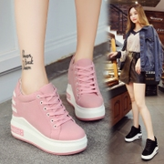 The increase in women's high heeled 12cm fall all-match thick bottom shoes casual shoes' small code shoes