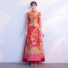 Show Wo clothing 2018 new Chinese wedding dress female toast clothing bride show kimono wedding costume wedding dress clothing