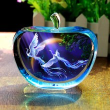 The ball twelve Home Furnishing ornaments of Valentine's day dream constellation boy sent girlfriend creative birthday gift crystal apple