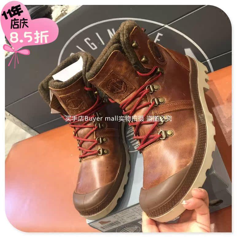 代购PALLADIUM帕拉丁PDQA6F976M高帮牛皮棉鞋靴子PDQA6F874M男款
